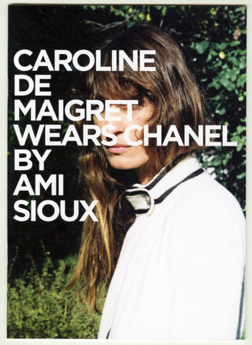 amisioux-news:  My new Zine Nº2 Caroline de Maigret wears Chanel…