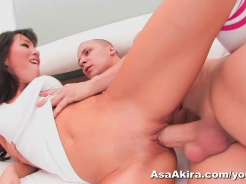 Asa Akira fucks a big dick hard